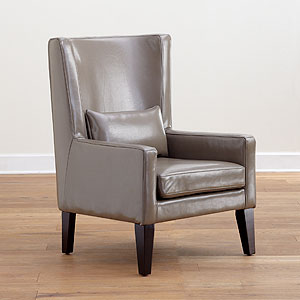 Grey Triton High Back Leather Chair, $449.99.