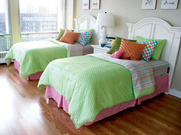 Girl's bedroom, designed by Cathy Hobbs.