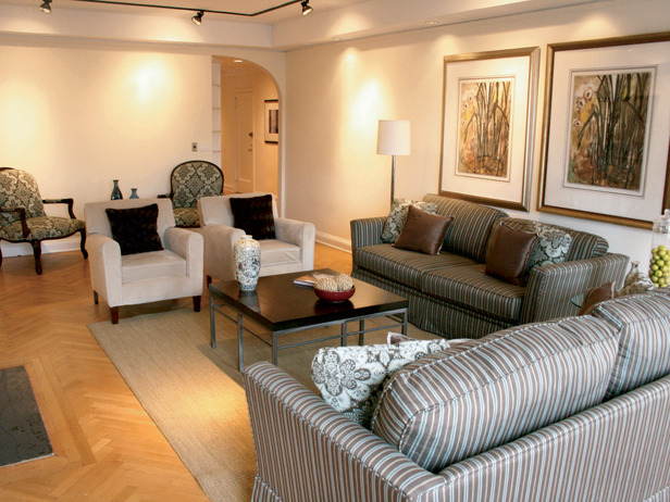 Traditional living room designed by Cathy Hobbs.