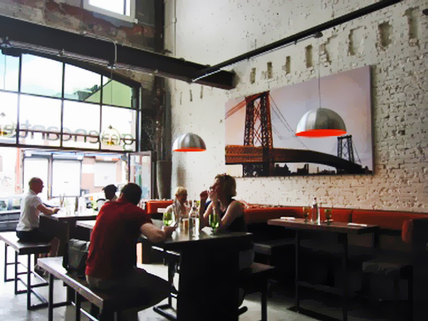 Restaurant dining room, from Bret Ritter's portfolio.