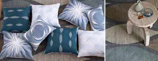 More Allegra Hicks designs...love her Printed Harlequin Jute Rug on the right, $39-199.