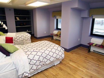AFTER: Meg Caswell and Tyler Wisler's bedroom design.