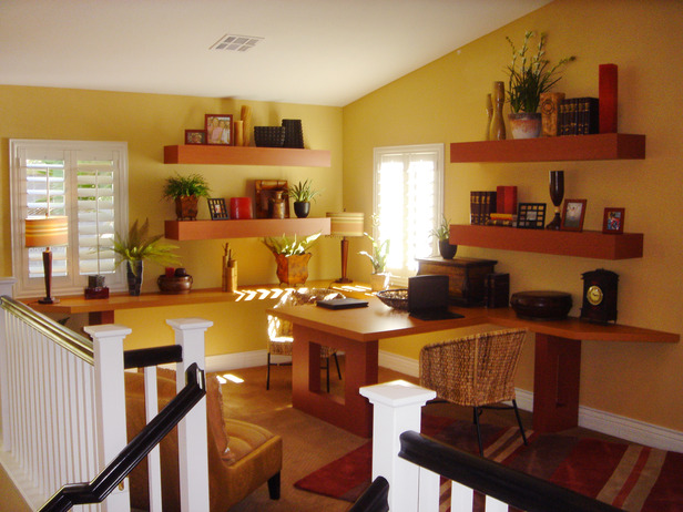 Home office designed by J Allen.