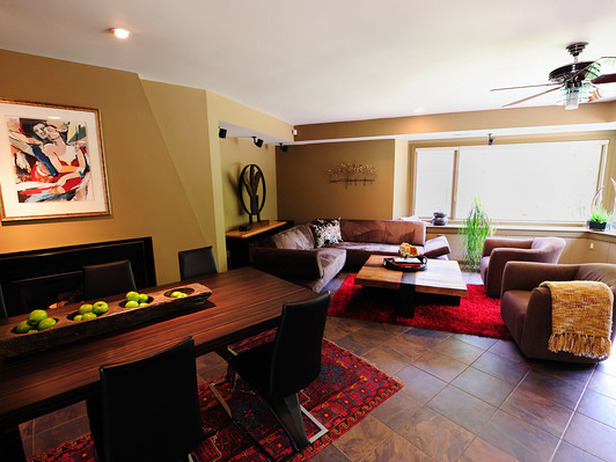 Living and dining room designed by J Allen.