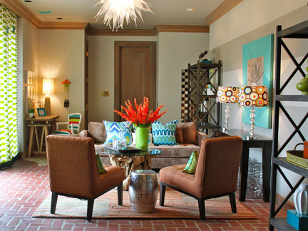 Living room designed by Kellie Clements.