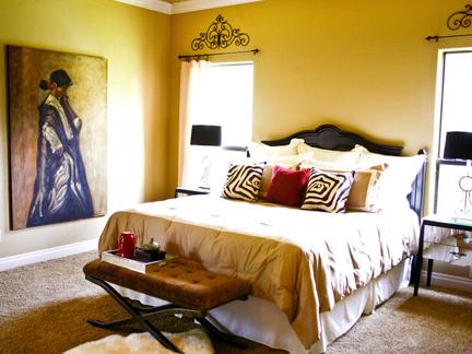 Bedroom designed by Kellie Clements.