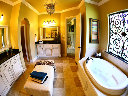 Bathroom designed by Kellie Clements.