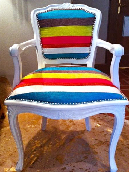 Vintage chair redesigned by Kellie Clements.