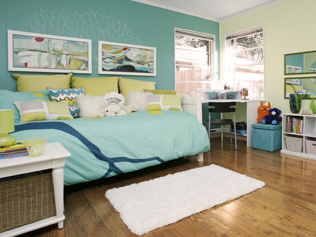 Girl's bedroom designed by Leslie Ezelle.