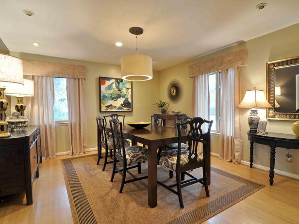 Dining room designed by Leslie Ezelle.