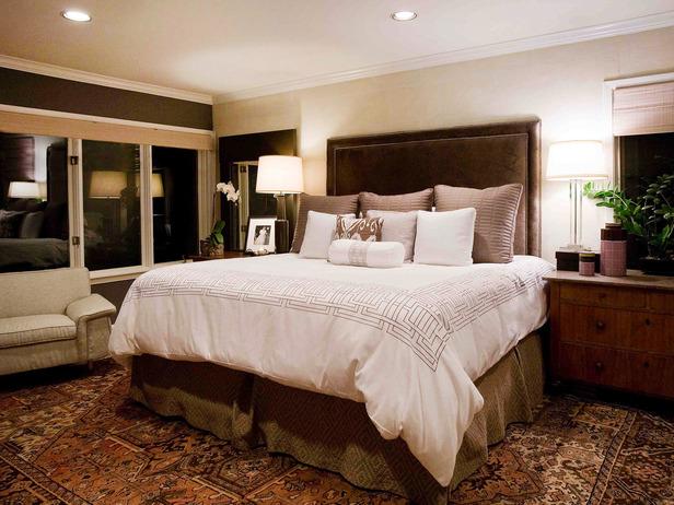Bedroom designed by Leslie Ezelle.