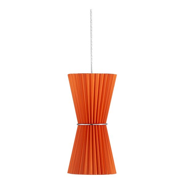 Pleat Orange Hourglass Pendant Lamp, $99.95.