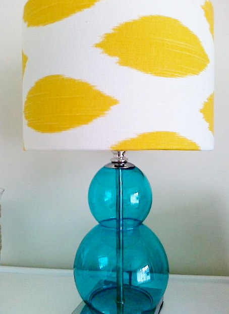 Blue And Yellow Bolle Lamp, $83.