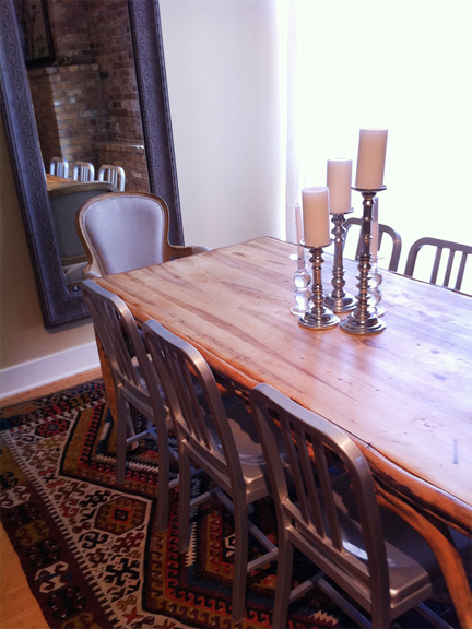 Dining room designed by Meg Caswell.