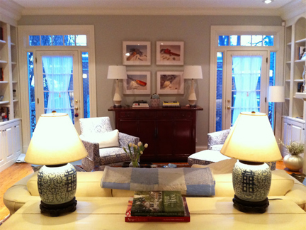 Living room designed by Meg Caswell.