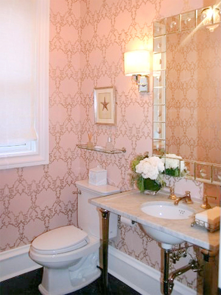 Powder room designed by Meg Caswell.