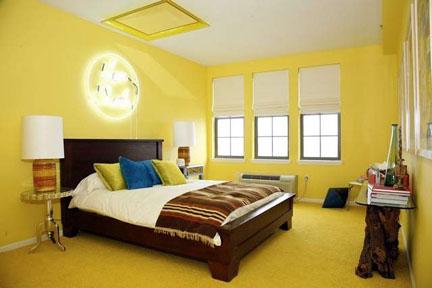 Master bedroom designed by Robert and Cortney Novogratz.