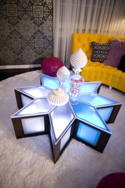 David Bromstad's star-studded coffee table.