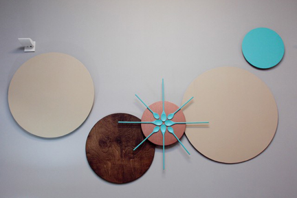 "Kellie Clements created art from wooden spoons and tabletops for her ""Look for Less"" makeover."