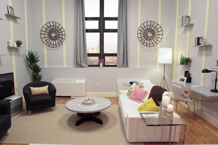Meg Caswell's living room makeover.