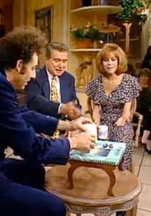 Seinfeld character, Kramer, presents his coffee table book on Regis & Kathie Lee.