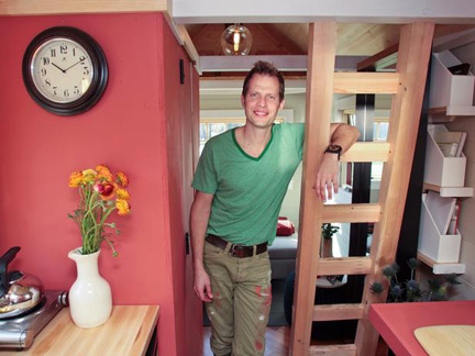 Karl Sponholtz' tiny house was packed with sophisticated design elements.