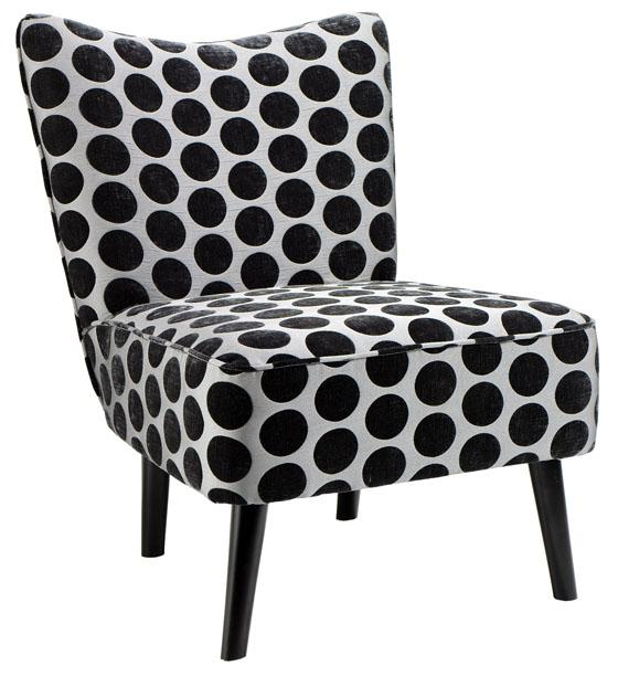 Draper Slipper Chair in Navy Dots, $215 (reg. $269).