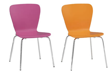 LOVE the color! Felix bentwood chairs from Crate & Barrel, $89.95/each.