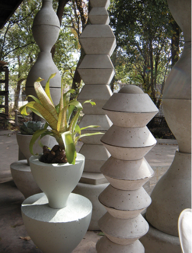 Concrete scupltures by Paul Oglesby.