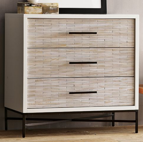 Wood Tiled 3-Drawer Dresser, $699.