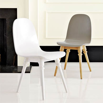 Paul Loebach Dining Chair from West Elm, $249. Spendy, but cool.