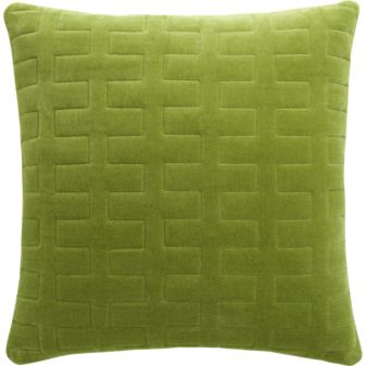 Dozer Pillow in Sprout, $39.95.