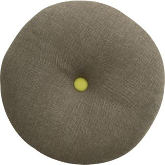 Button-Up Chartreuse Circle Pillow, $19.95.