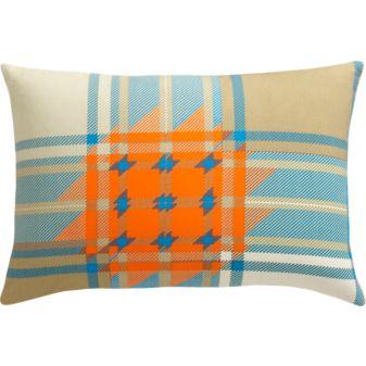 Plaid Orange Pillow, $29.95.