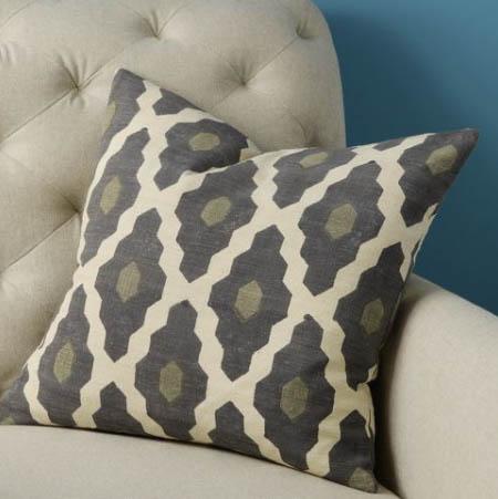 Hand-Blocked Silk Casablanca Pillow cover, $39.