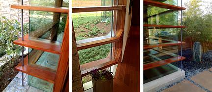 Ribbed windows.