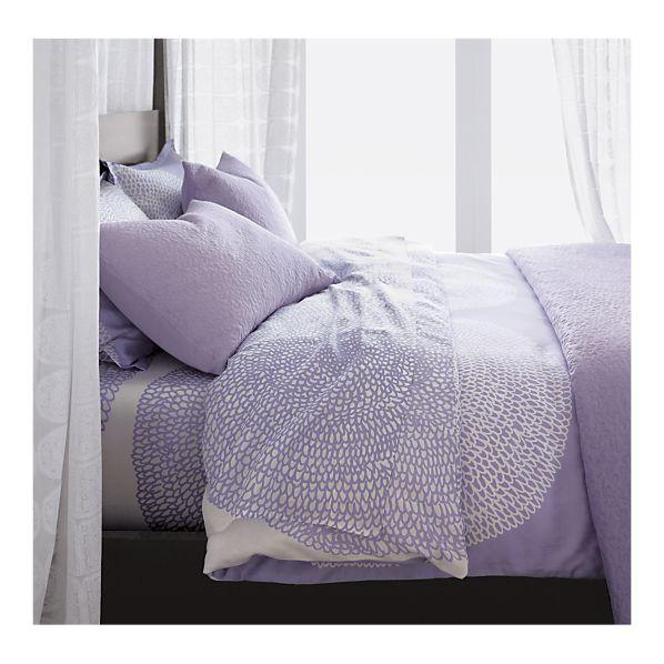 Marimekko Pippurikera Bed Linens in Wisteria, $31.96-$135.20 on special (reg. $39.95-$169).