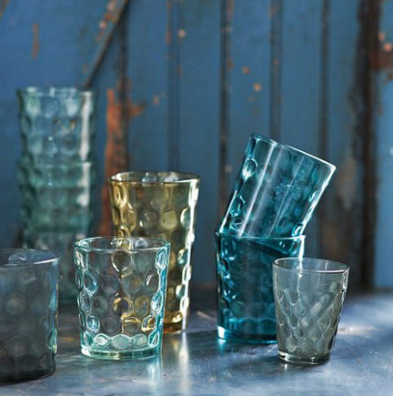 Dimpled Glassware, $16-$32.