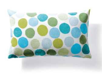 Multicolored Dots Outdoor Pillow, $29-$39.