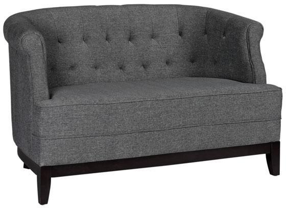 """Emma Tufted Studio Sofa (50""""L), $343 on sale (reg. $429)."""