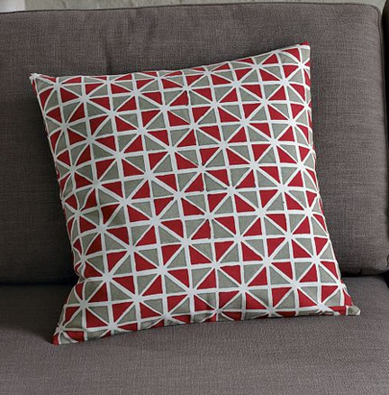 Hand-Blocked Harlequin Pillow Cover, $19.