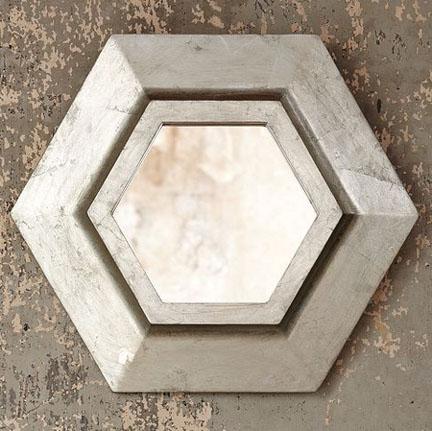 Hexagon Mirror, $99.