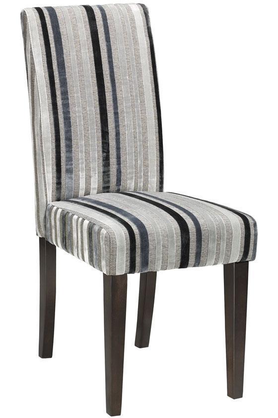 Parsons Side Chair in Gray & Black Stripe Velvet, $79 on sale (reg. $99).