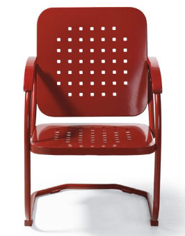 Retro Squares Spring Chair in Red, $199.