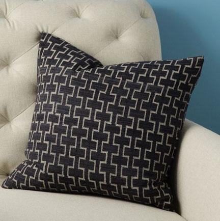 Hand-Blocked Silk Stone Trellis Pillow Cover, $39.