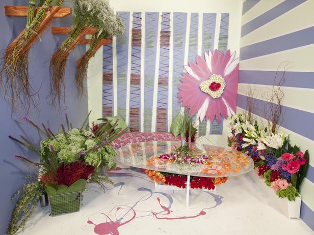 David Font's colorful living room design.