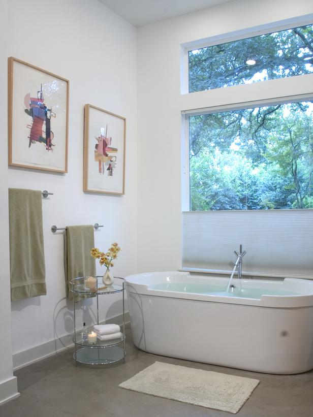 How do you take a beautiful, modern bathtub and make it look incredibly boring and dated? Here's how.