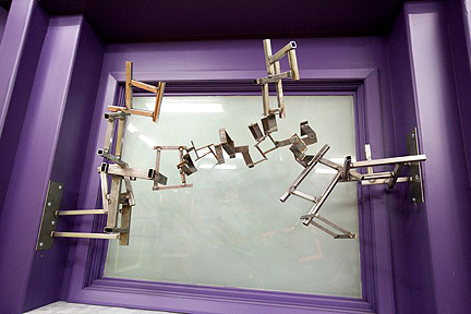 Stanley's burglar bars...er, metal sculpture.