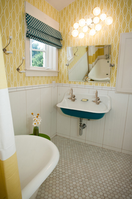 Mod Vintage Bathroom Austin Interior Design By Room Fu Knockout Interiors