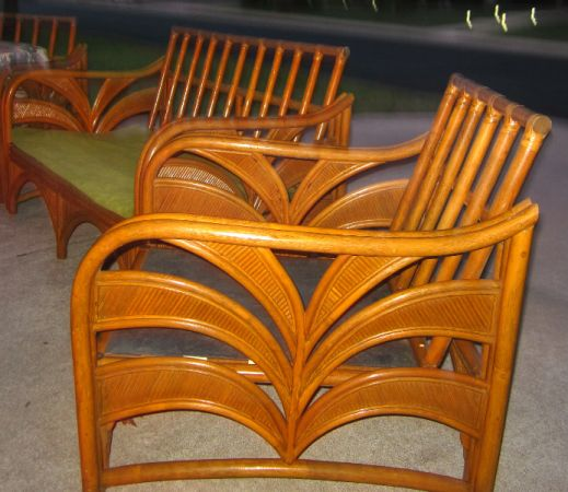 1949 Bamboo Outdoor Furniture. Loveseat and two chairs. $475.